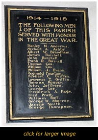 Billington Roll of Honour