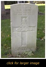 Eggington War grave of L. W. Turner